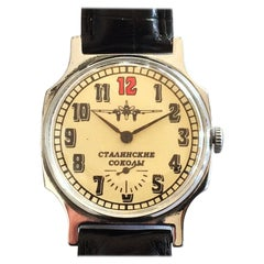 Russian Mid Century Military Airplane Aeroplane Wrist watch