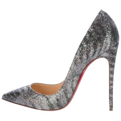 Christian Louboutin New Sold Out Silver So Kate Evening Heels Pumps in Box