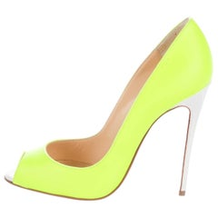 Christian Louboutin New Sold Out Neon Leather So Kate High Heels Pumps in Box