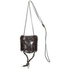 Tom Ford for Gucci Fall 2002 Alligator & Mink Fur Inro Handbag