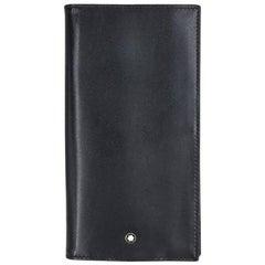 Mont Blanc Single Folder Black Leather Wallet