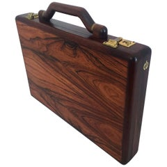 Jeffrey Benjamin Custom Solid Walnut Attache Case Briefcase
