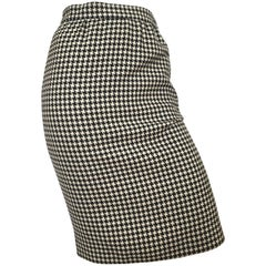 Emanuel Ungaro  Houndstooth Pencil Skirt Size 4.