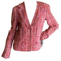Chanel 2004 Fantasy Tweed Fringed Jacket