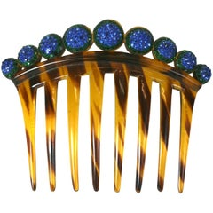 Art Deco Pave Ball Comb