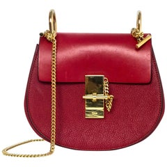 Chloe Red Leather Mini Drew Crossbody Bag rt. $1,650