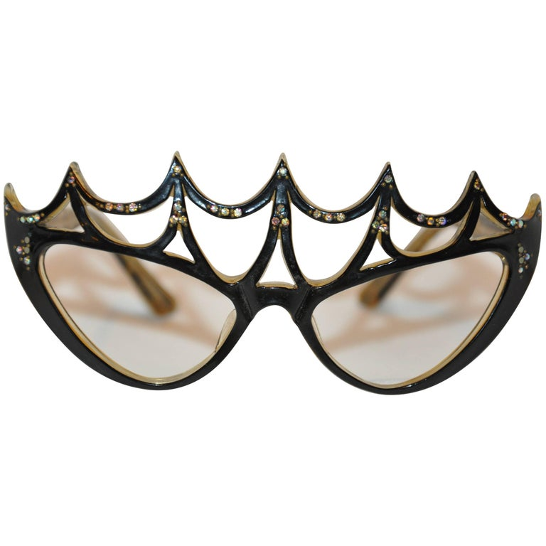 "Vintage One-Of-A-Kind ""Peggy Guggenheim"" Style Masquerade Frames"
