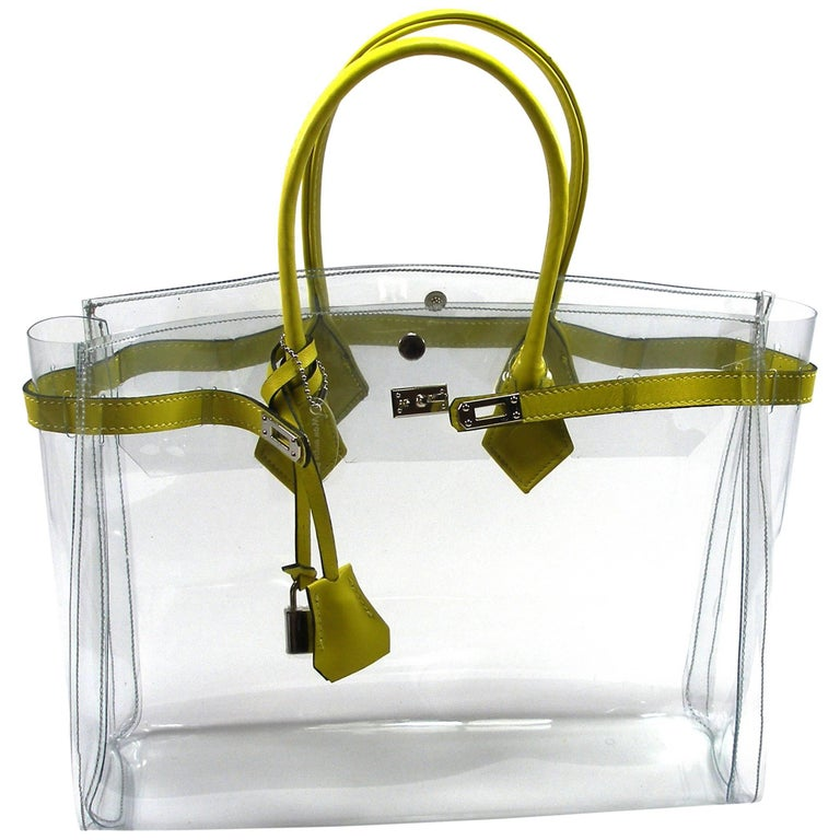 a12541000a ORIGINAL Mon Autre Sac ® Cabas Diamant pvc and Yellow leather / Brand New  For Sale