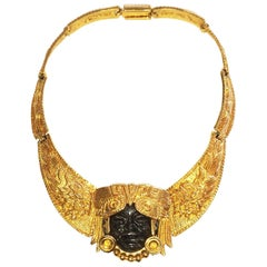 Mid Century Mask Necklace by Marbel Salvador
