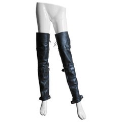 1980's Leather Leg Warmers