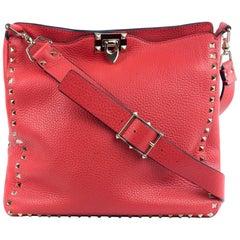 Valentino Women's Bright Rockstud Vitello Hobo Bag