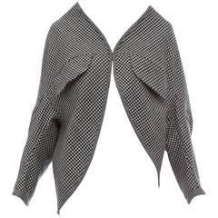 Yohji Yamamoto Wool Houndstooth Asymmetrical Jacket, Autumn - Winter 2003