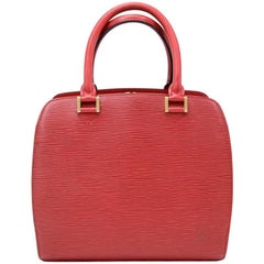 Louis Vuitton Pont Neuf Red Epi Leather Hand Bag