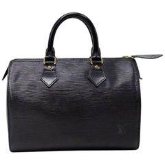 Vintage Louis Vuitton Speedy 30 Black Epi Leather City Hand Bag