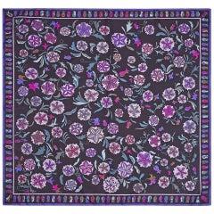 1970s Emilio Pucci Silk Floral Pattern Scarf 90cm Square