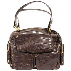 2000s Tod's Crocodile Leather Handbag