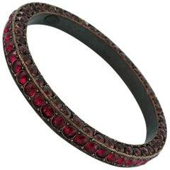Lanvin Crystal Embellished Bangle Ruby