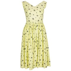 1950s Summer Dress with Star Print