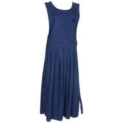 Pierre Cardin Denim Pinafore Dress