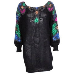 Sequin and Beaded Evening Sweater by Mannell
