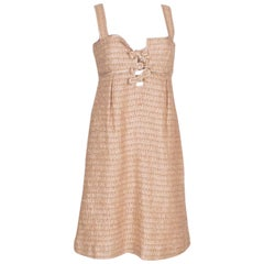 Valentino Roma Soft Gold Cocktail Dress