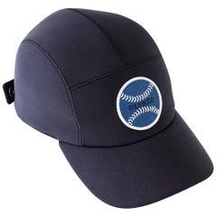 Hermes Hat Men's Limited Edition Baseball Cap Black Blue Baseball 59 / Unisex