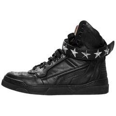 Givenchy Men's Black Leather Tyson Stars Sneakers Sz 39