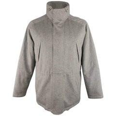 Men's LORO PIANA L Grey Cashmere Snowdream Creekside Stormsystem Jacket