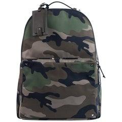 Valentino Brown Rockstud Camouflage Nylon Backpack