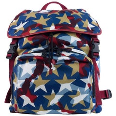 Valentino Multicolor Red Blue White Camustar Nylon Backpack