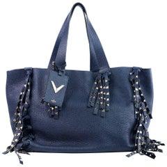 Valentino Women's C Rockee Studded Fringe Leather Tote Bag