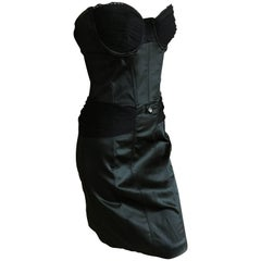 John Galliano Little Black Corset Dress