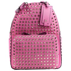 Valentino Women's Pink Leather Rockstud Backpack