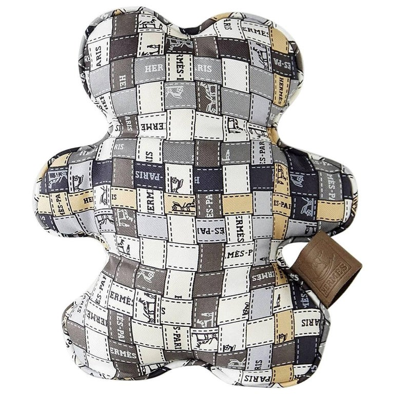Hermes Dou Dou Bolduc Silk Teddy Bear SO Charming 1