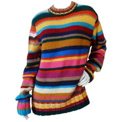 1990s Dolce & Gabbana Knitted Striped Sweater