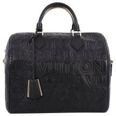 Louis Vuitton Paris Speedy Cube Bag Embossed Leather 30