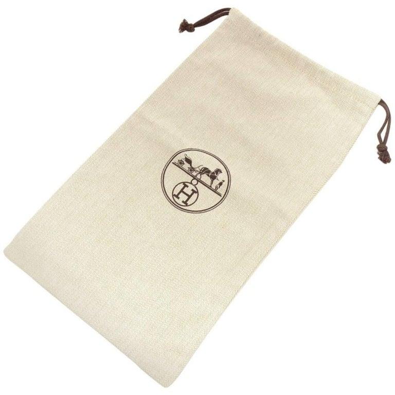 Hermes Herringbone Small Dust Bag
