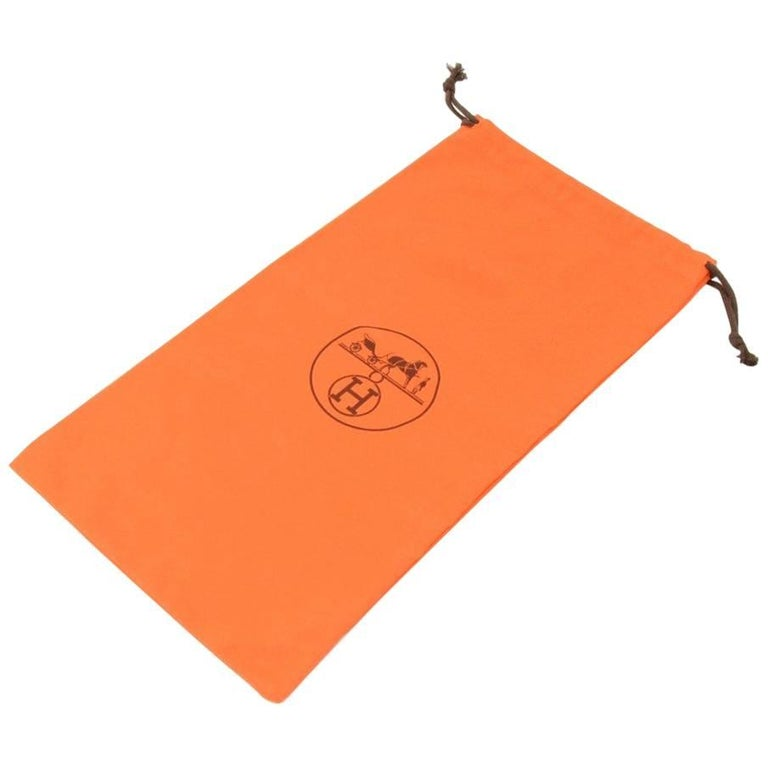 Hermes Orange Small Dust Bag