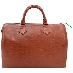 Vintage Louis Vuitton Speedy 30 Kenyan Fawn Epi Leather City Hand Bag