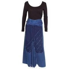Blue Cotton Skirt by Marithe Francois Girbaud