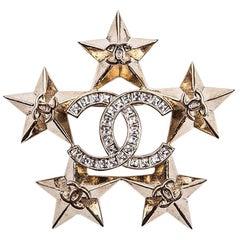 CHANEL 'Paris Dallas' Brooch in Gilded Metal and Rhinestones