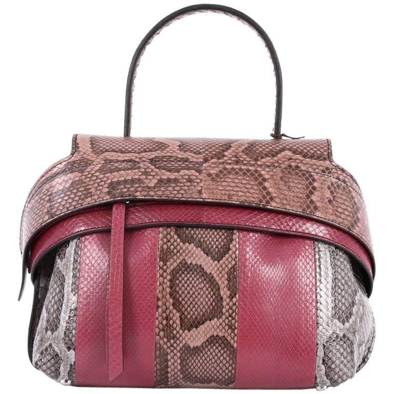 Tod's Convertible Wave Bag Python Small