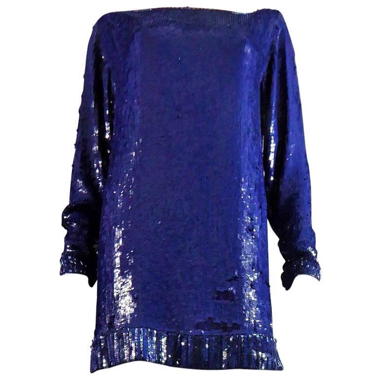 Yves Saint Laurent Rive Gauche Sweater Dress For Sale