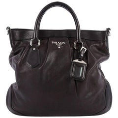 Prada Convertible Belted Satchel Vitello Soft Large