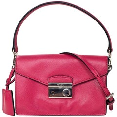 Prada Salmon Pink Saffiano Mini Sound Crossbody Bag with DB
