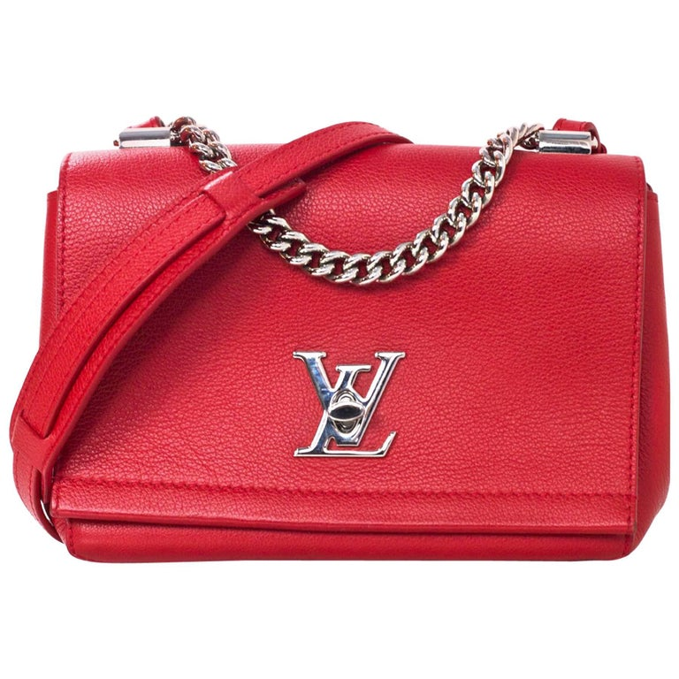 Louis Vuitton Red Lockme II BB Satchel Bag with DB