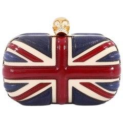 Alexander McQueen Britannia Skull Box Clutch Patent Small