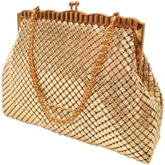 Vintage Whiting & Davis Gold Metal Mesh Handbag