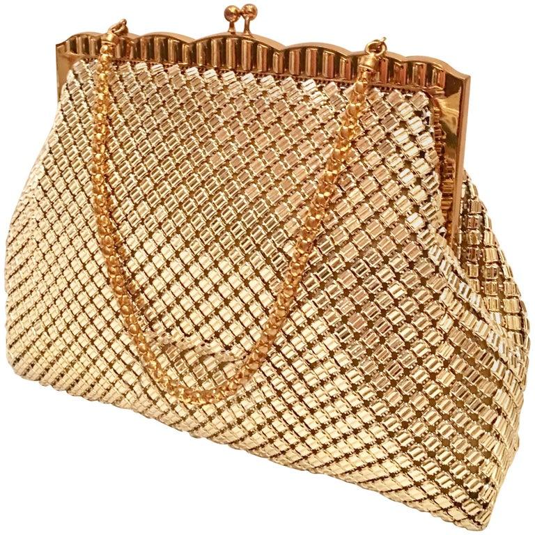 Vintage Whiting & Davis Two-Tone Metal Handbag