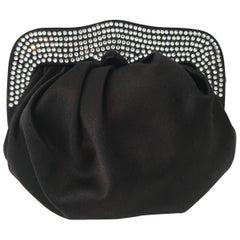 St. John Silk & Swarovski Crystal Encrusted Evening Bag